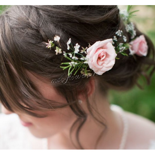 Шпильки для волос с кустовой розой