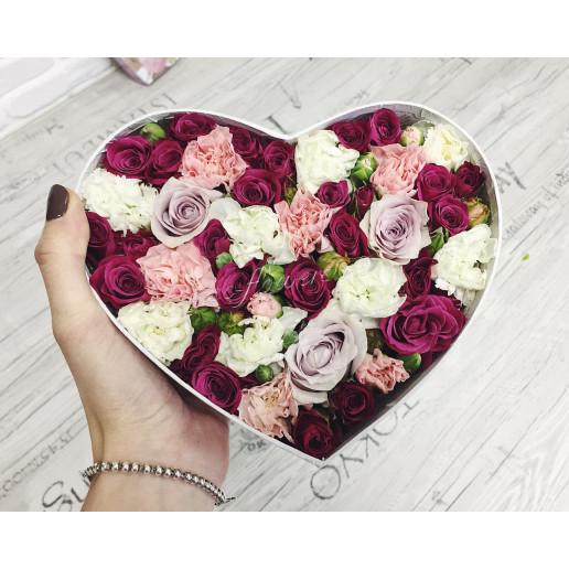 """Цветы с макарони Дабл Бокс 3"""""""