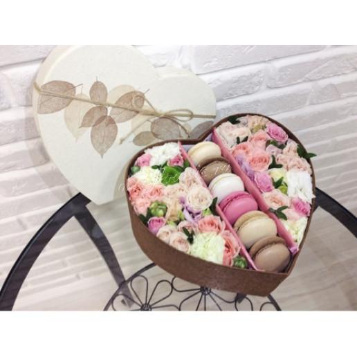 """Цветы с макарони """"Персиковый цвет"""""""