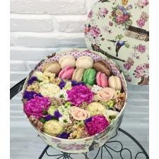 "Цветы с макарони ""Весенний луг"""