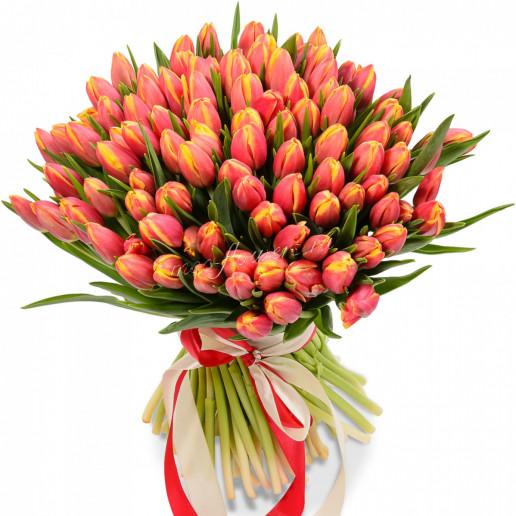 """Букет тюльпанов """"Ласковый поцелуй"""""""