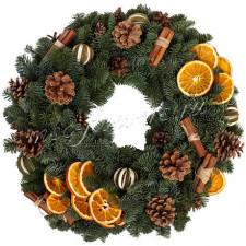 Рождественский венок с апельсинами