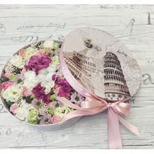 """Цветы в коробке """"Французский привет"""""""