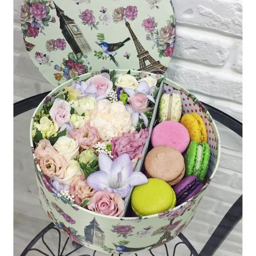 """Цветы с макарони """"Нежность"""""""