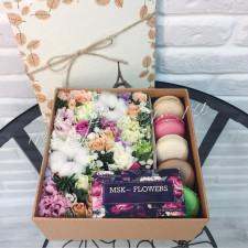 """Цветы с макарони """"Новогодний подарок"""""""