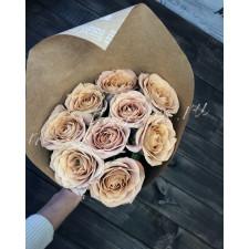 """Букет из роз """"Кафе Латте"""""""