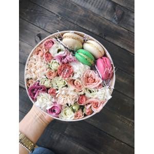 """Цветы с макарони """"Сладость"""""""