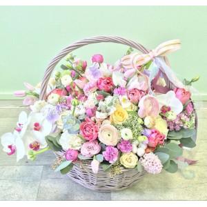 """Корзина с цветами """"Роскошь"""""""