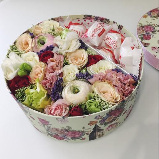 """Цветы с макарони """"Шоколадное счастье"""""""
