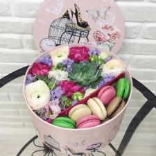 """Цветы с макарони """"Созвездие девы"""""""