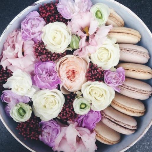"""Цветы с макарони """"Зефир"""""""