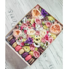 """Цветы с макарони """"Кусочек счастья"""""""