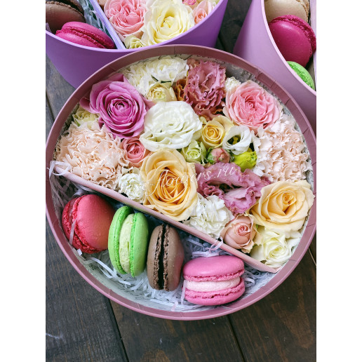 "Цветы с макарони ""Весеннее чувство"""