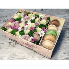 """Цветы с макарони """"Уютное чаепитие"""""""