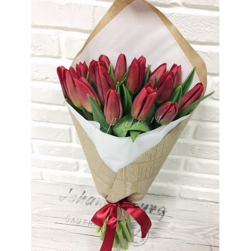 """Букет """"Красный тюльпан"""""""
