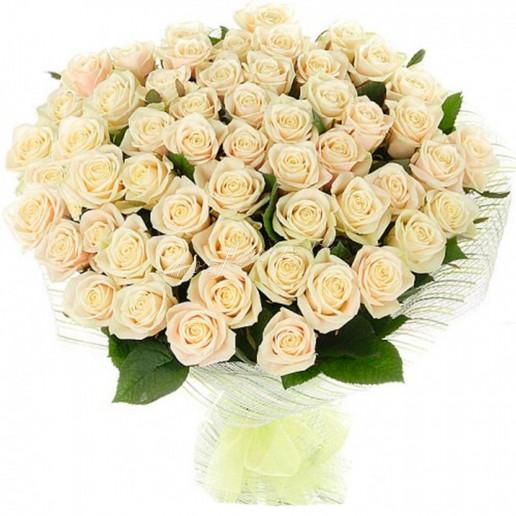 Букет из  кремовой розы Талея